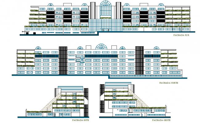 Front Elevation Autocad File : Building elevation design file dwg