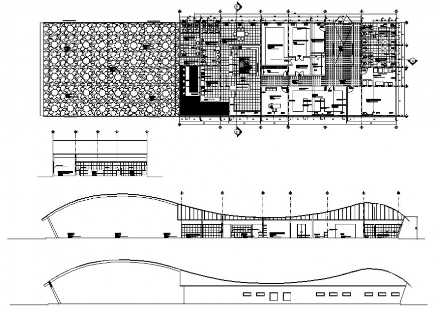 beach hotel project detail cad file