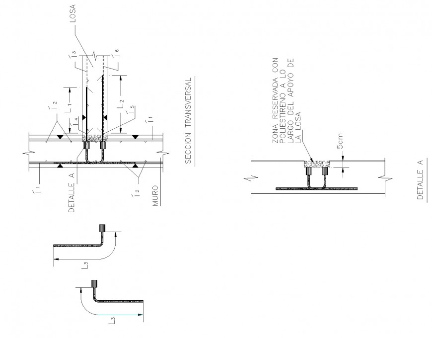 Bearing foundation plan and section layout file