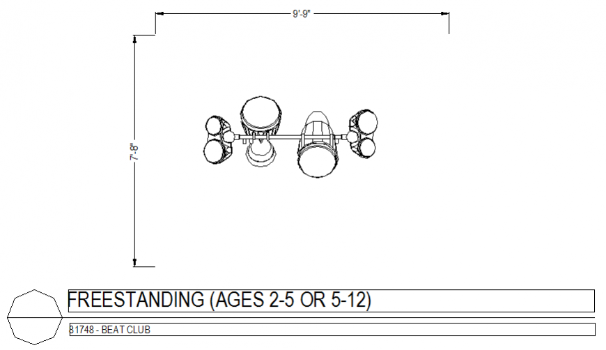 Beat Club freestanding view design dwg file