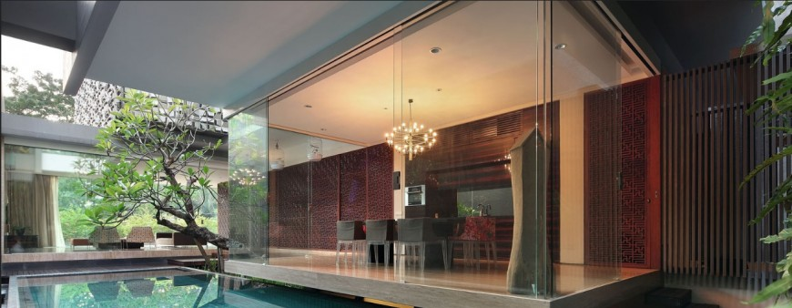 Beautiful bungalow with swimming pool 3d model cad drawing details jpg file