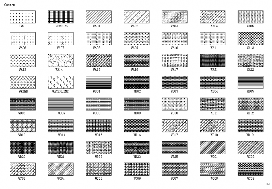 Beautiful dynamic tile blocks cad drawing details dwg file