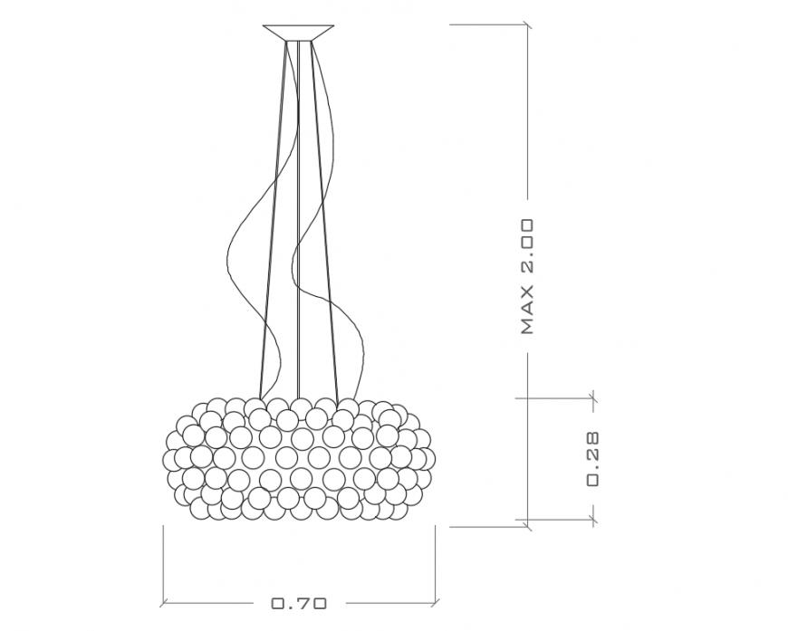 Beautiful false ceiling flake elevation cad drawing details dwg file