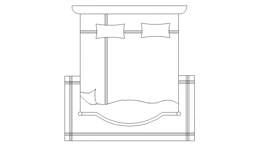 Bed plan autocad file