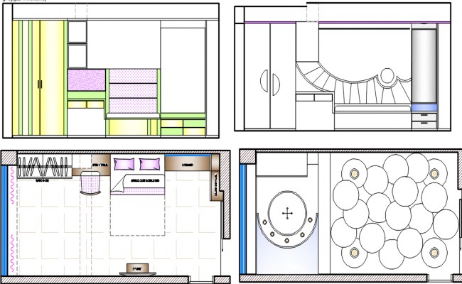 bedroom layout , ceiling layout dwg file