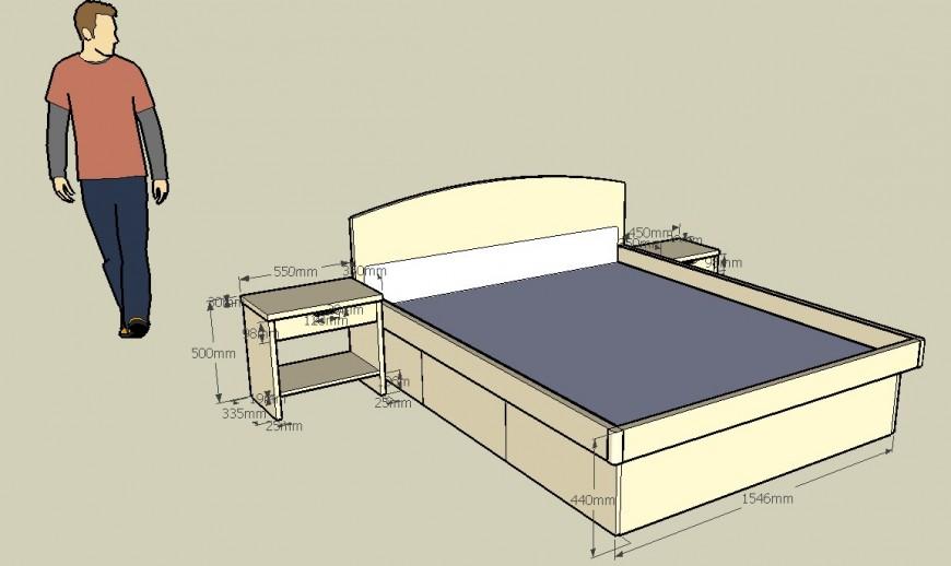 Bedroom furniture 3d detail model