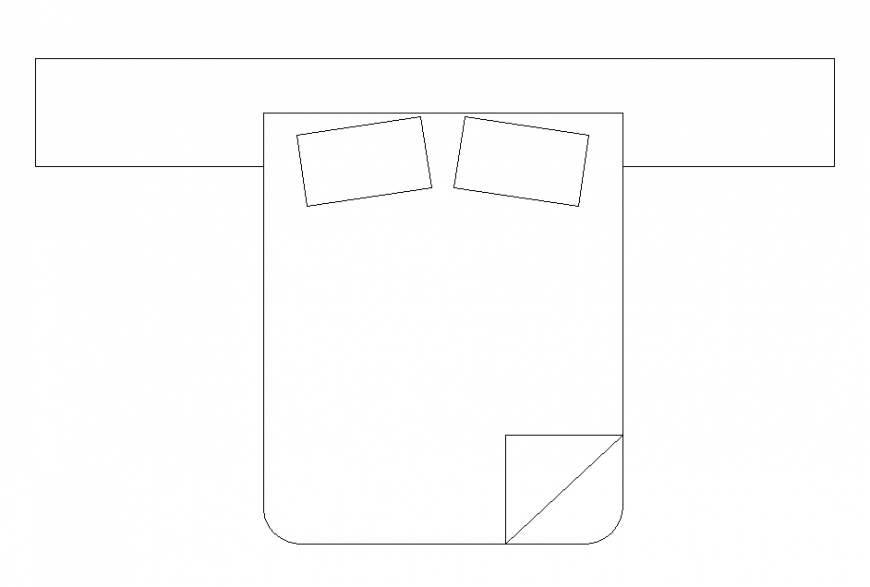 Bedroom furniture detail bed structure layout dwg file