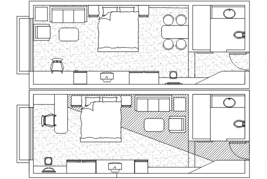 Bedroom interior design 2d  detail