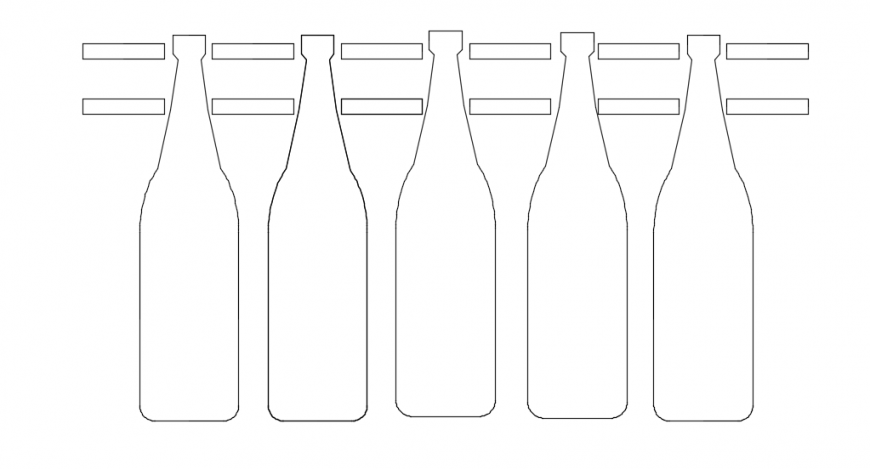 Beer bottles front model design