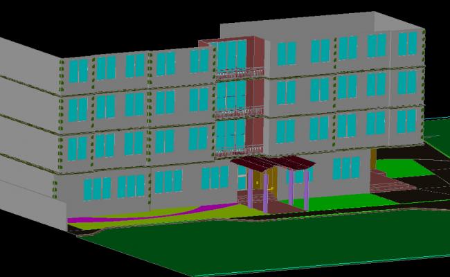 3d Hotel Plan