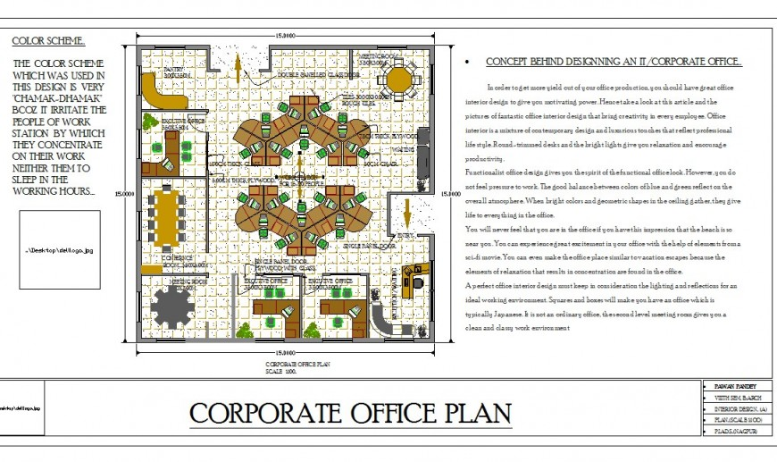 Big layout plan of a office