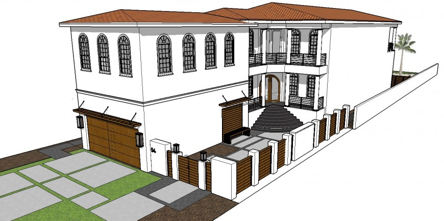 Big scale project of a house 3d detailing dwg file