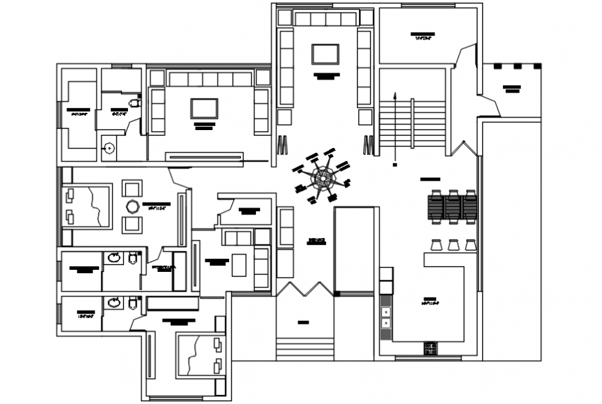 Big spacious top view plan