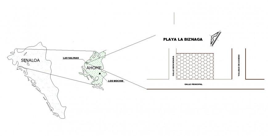 Biznaga beach plan autocad file