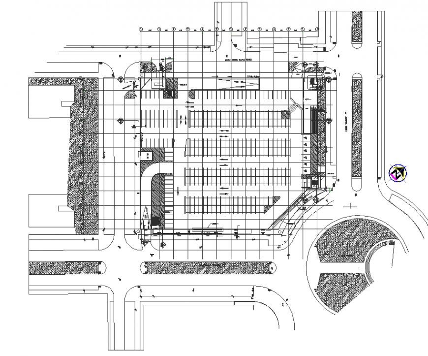 Blue print of hyper market drawing in dwg AutoCAD file.