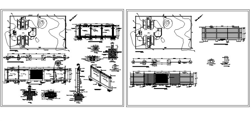 Boarding school detail drawing in dwg file.