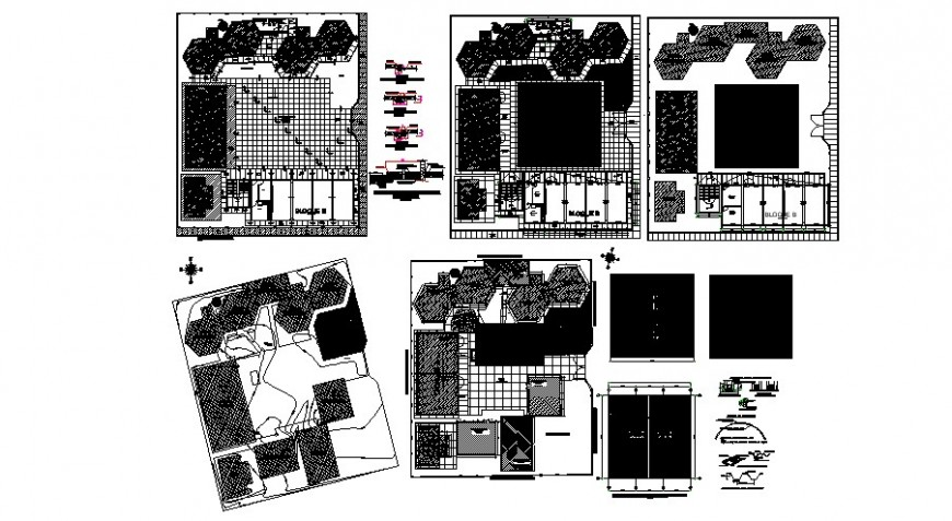 Bonifatia architecture school elevation, section and floor plan cad drawing details dwg file