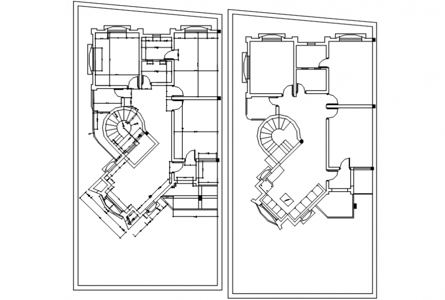 Both floor framing plan details for two story house dwg file