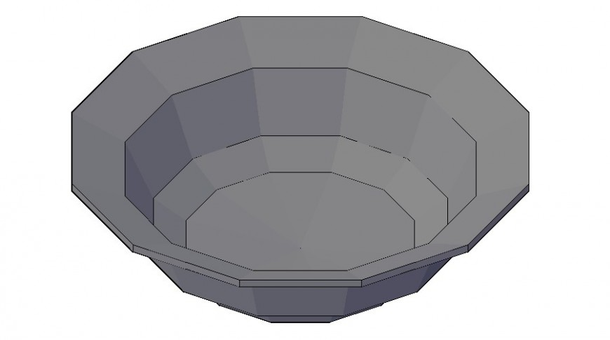 Bowl detail kitchen utensils equipment layout 3d model autocad file