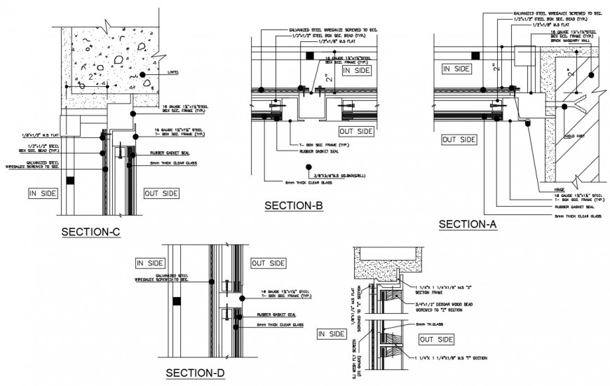 Box section steel window autocad software