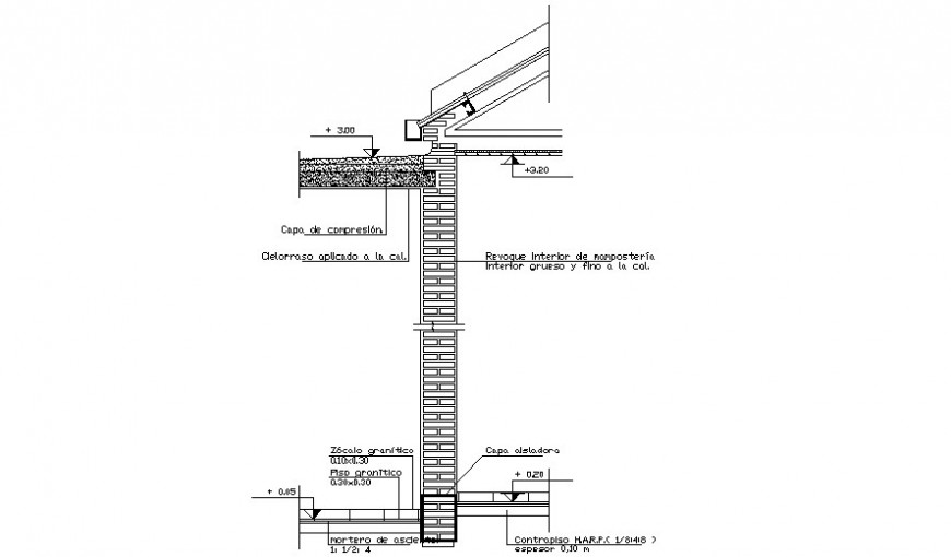 Brick masonry units drawings 2d view with section details in autocad