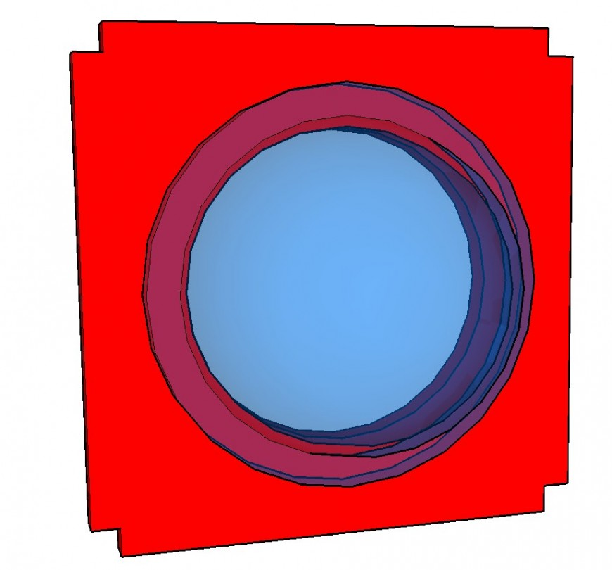 Bubble section 3d drawing in skp file