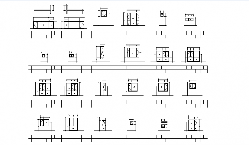 Building and window CAD drawing