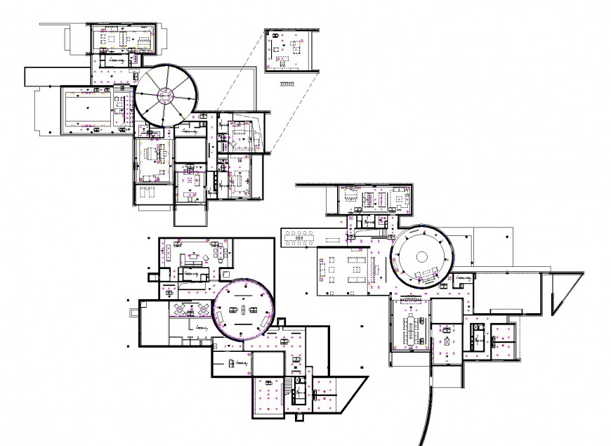 Building CAD ceiling map layout file