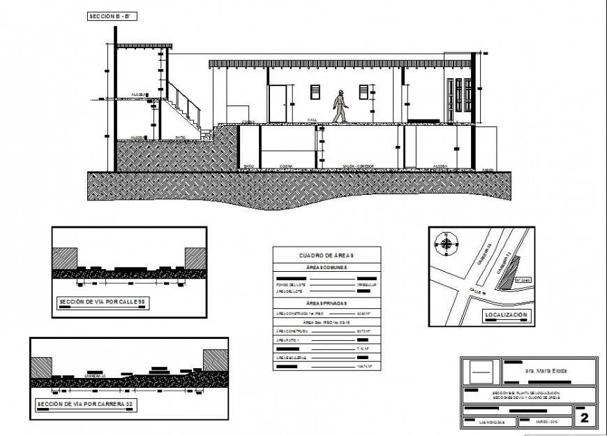 Building floor plan drawings details along with sectional details of building