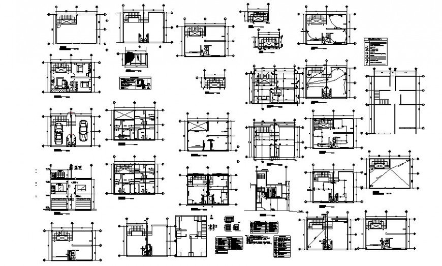 Building floor plan drawings details along with sectional details of building autocad file