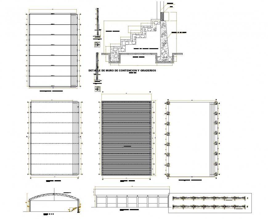 Building housing 2 d plan layout file