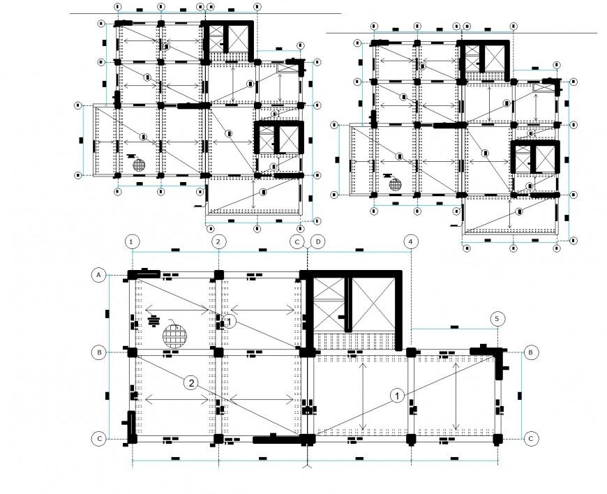 Building layout detail autocad file