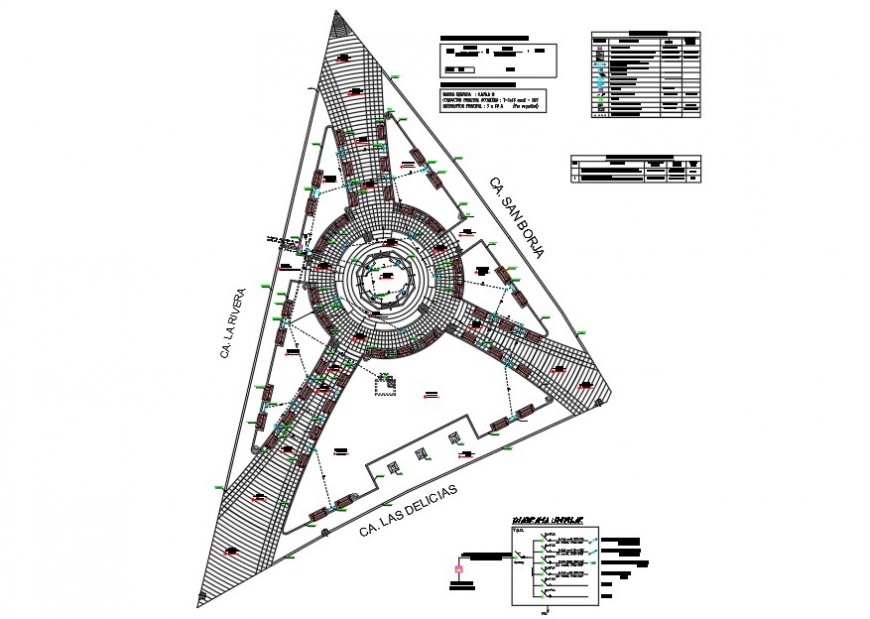 Building plan and electric circuit diagram detail 2d view layout file in autocad format