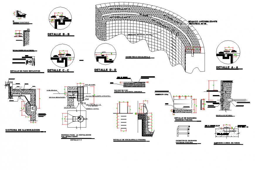 Building Structural section plan autocad file