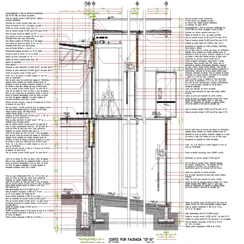 Bungalow detail drawing in dwg file