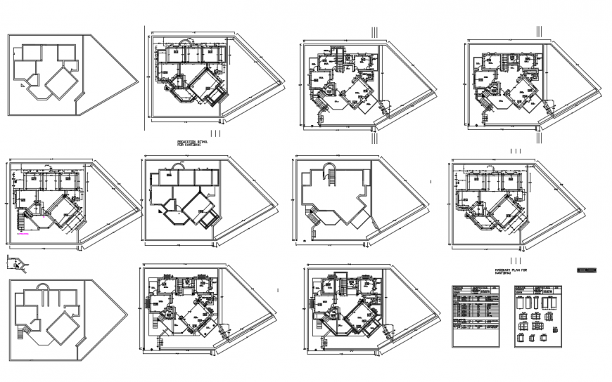 Bungalow detail dwg file
