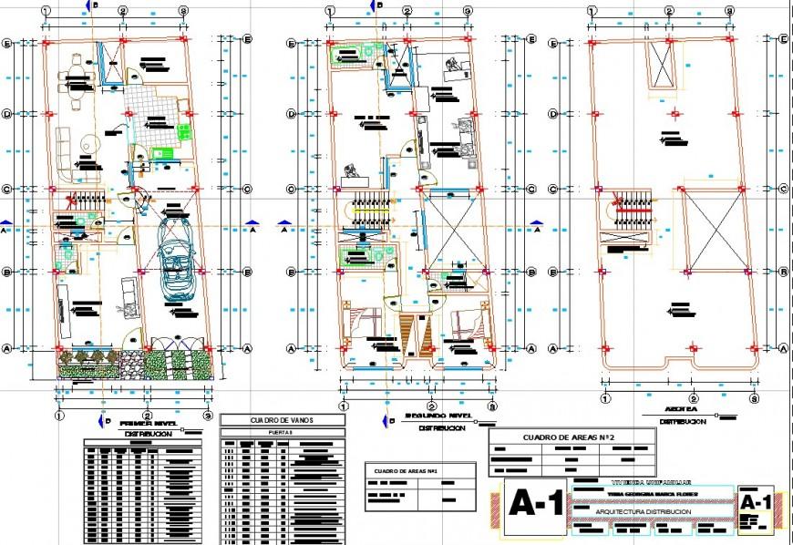 Bungalow drawing plan in dwg file.