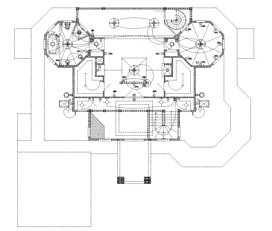 Bungalow drawing with electric drawing in dwg file.