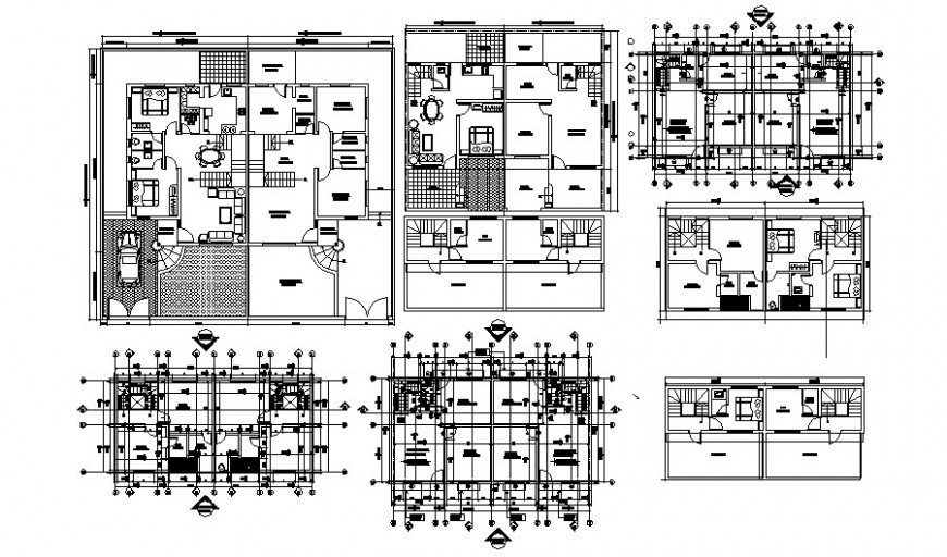 Bungalow drawings 2d view Floor plan layout file in autocad software file