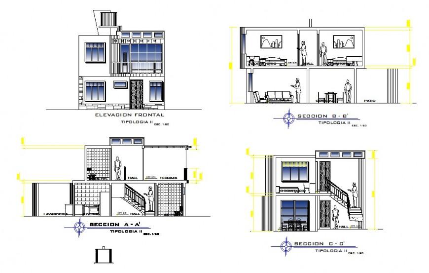 Bungalow elevation design model