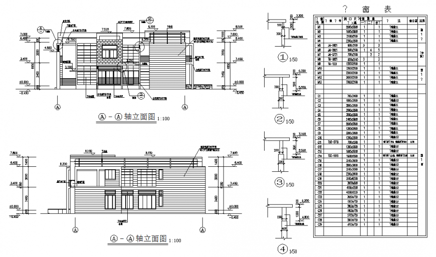 Bungalow elevation plan autocad file