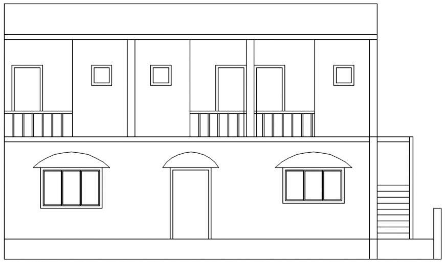 Bungalow exterior concept detail