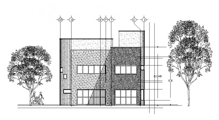 Bungalow exterior concept detail model