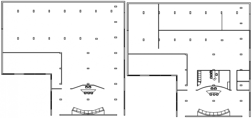 Bungalow floors plan and structure drawing details dwg file