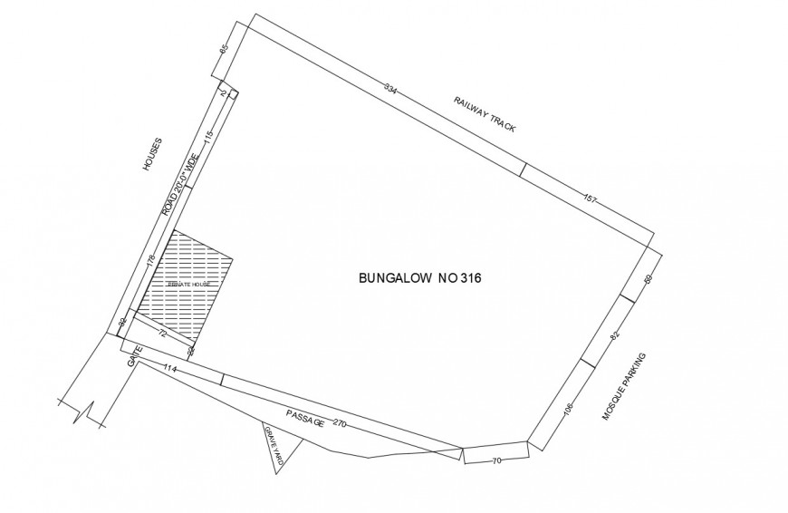 Bungalow plan in autocad