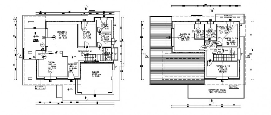 Bungalow roof detail drawing in dwg AutoCAD file.