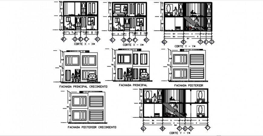 Bungalow sectional detailing view model