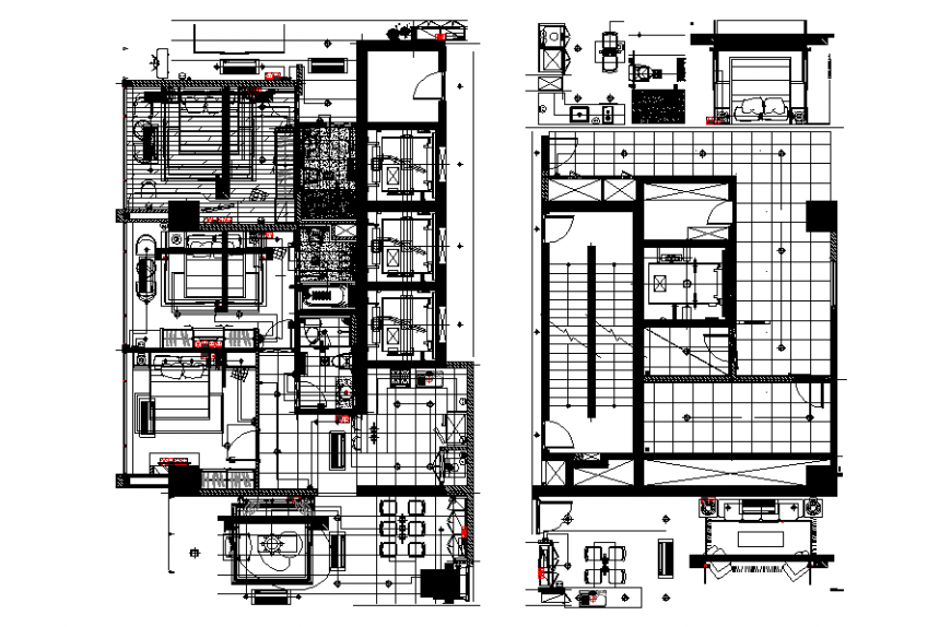 Bungalows Two Floor Lay-out Detail