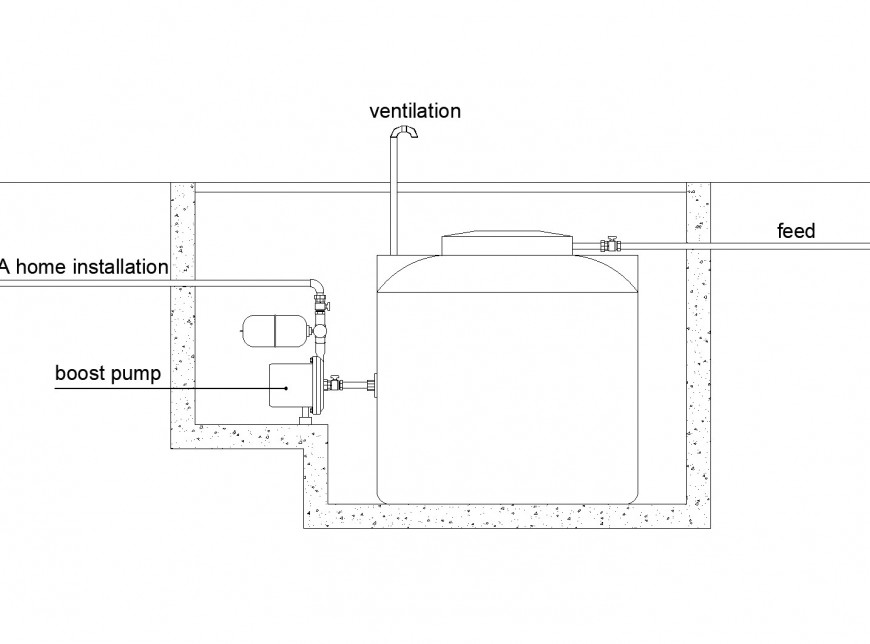 Buried cistern plan layout file