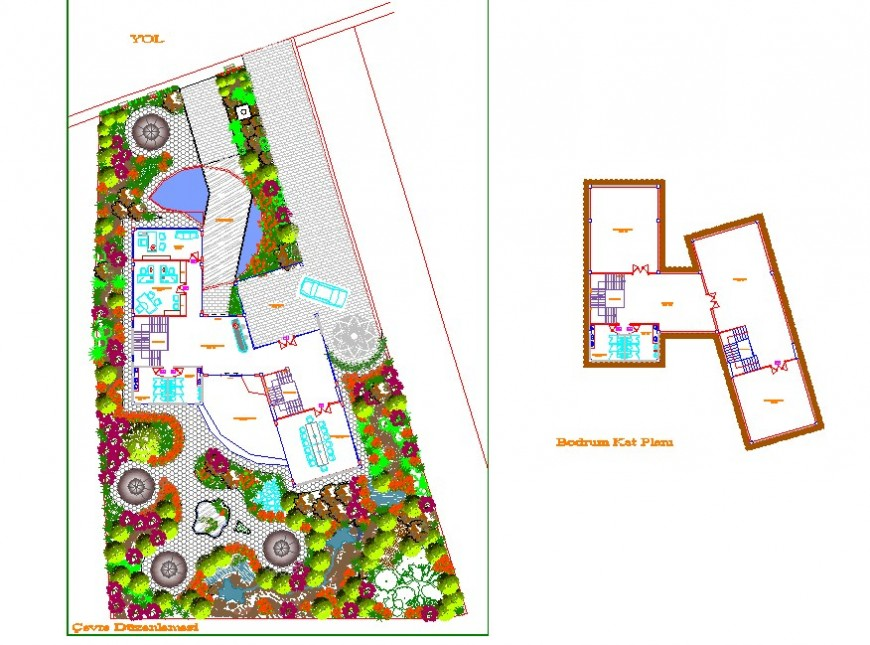 Business centre layout plan top view